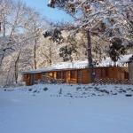 8: chalet du pin sous la neige